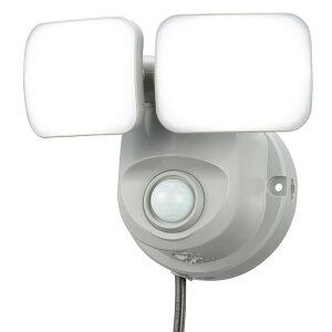 LEDセンサーライト人感・明暗センサーコンセント式2灯OHMOSE-LS80007-8068