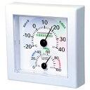 クレセル 快適環境温湿度計 壁掛け・卓上両用 ホワイト イン