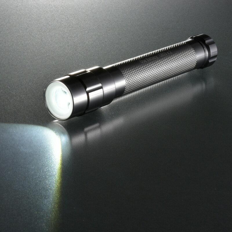 LED懐中電灯 防水 IPX6 ハンディライト  ズーム 140ルーメン OHM LDA-Y2WZ-S 07-8633 オーム電機