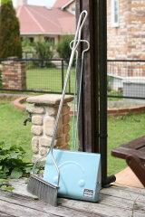 屋外 室内 庭用 ガーデン デザイン ユニーク おもしろ スチール ほうき ホウキ ちりとり チリト...