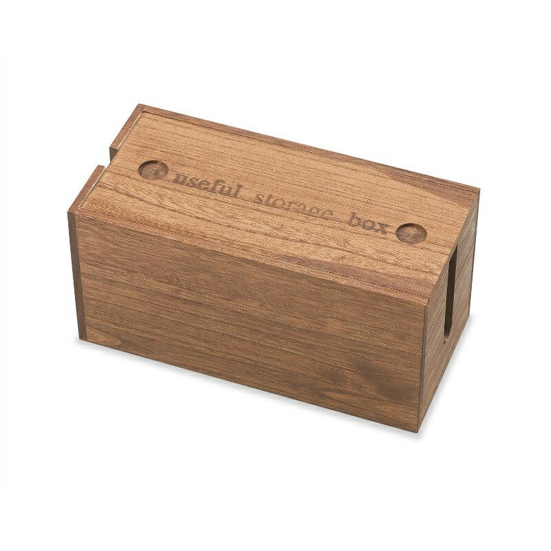 『 ミニ 桐ケーブルボックス ミニサイズ 』 ミニ コードケース 収納 電源ケーブルボックス 木製 電源タップ 電源コード ケーブル収納 電源タップ 掃除 コード隠し LAN HUB ほこり防止 即納の写真