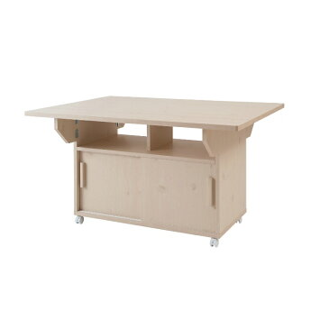 『両バタカウンターテーブル 幅120』 バタフライテーブル ダイニングテーブル テーブルワゴン バタフライワゴン カウンターテーブル 補助テーブル 折り畳みテーブル 折りたたみテーブル 作業テーブル 作業台 キャスター付き キッチン バタフライ