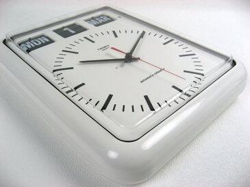 TWEMCO トゥエンコ 『パタパタカレンダークロック アナログ式』 BQ-12B インテリア小物 時計 壁掛け時計 壁掛時計 掛け時計 おしゃれ 壁掛け アナログ 連続秒針 カレンダー カレンダークロック レトロ 香港 ホワイト ブラック