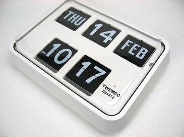TWEMCO トゥエンコ 『パタパタカレンダークロック』 BQ-17 掛け時計 インテリア小物 置物 時計 壁掛け時計 掛時計 壁掛時計 インテリア カレンダー カレンダークロック ウォールクロック 時計・壁(ウォールナット)