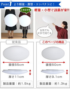 6畳のお部屋に最適サイズのLED照明