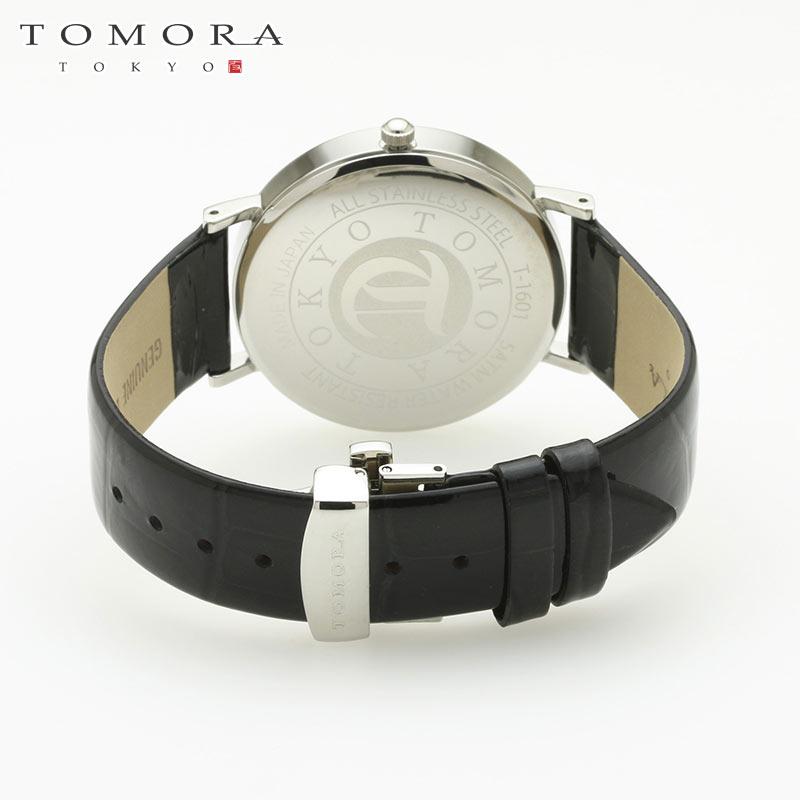 【a・新品・正規品】TOMORA TOKYO t-1601-gwhbk 日本製クォーツ腕時計 T-1601 GWHBK
