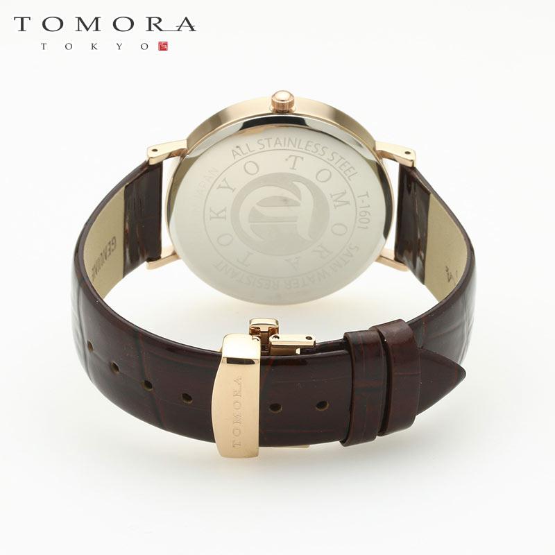 【a・新品・正規品】TOMORA TOKYO t-1601-pbkbr 日本製クォーツ腕時計 T-1601 PBKBR