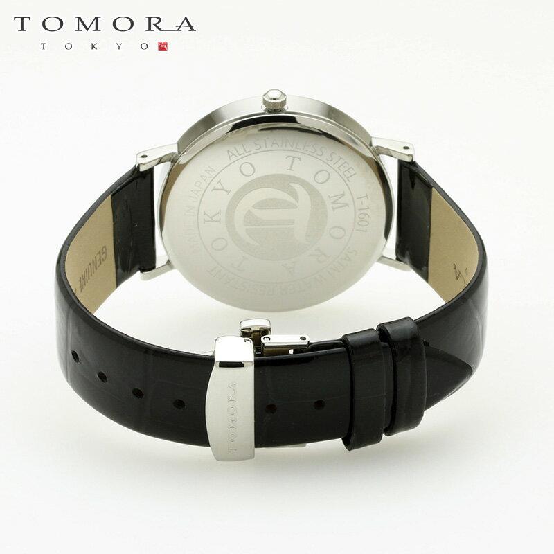 【a・新品・正規品】TOMORA TOKYO t-1601-sbkbk 日本製クォーツ腕時計 T-1601 SBKBK