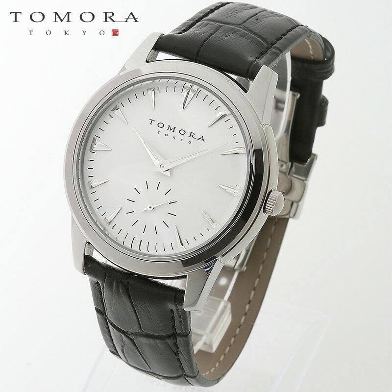 【a・新品・正規品】TOMORA TOKYO t-1602-sswh 日本製クォーツ スモールセコンド腕時計 T-1602 SSWH