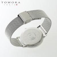 【a送料無料・新品・正規品】TOMORATOKYOt-1603-pbk日本製クォーツ日付・曜日カレンダー付き腕時計T-1603PBK