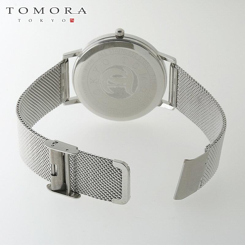 【a・新品・正規品】TOMORA TOKYO t-1603-wh 日本製クォーツ 日付・曜日カレンダー付き 腕時計 T-1603 WH