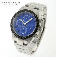 【a送料無料・新品・正規品】TOMORATOKYOt-1604-ssbl日本製クォーツクロノグラフ腕時計T-1604SSBL