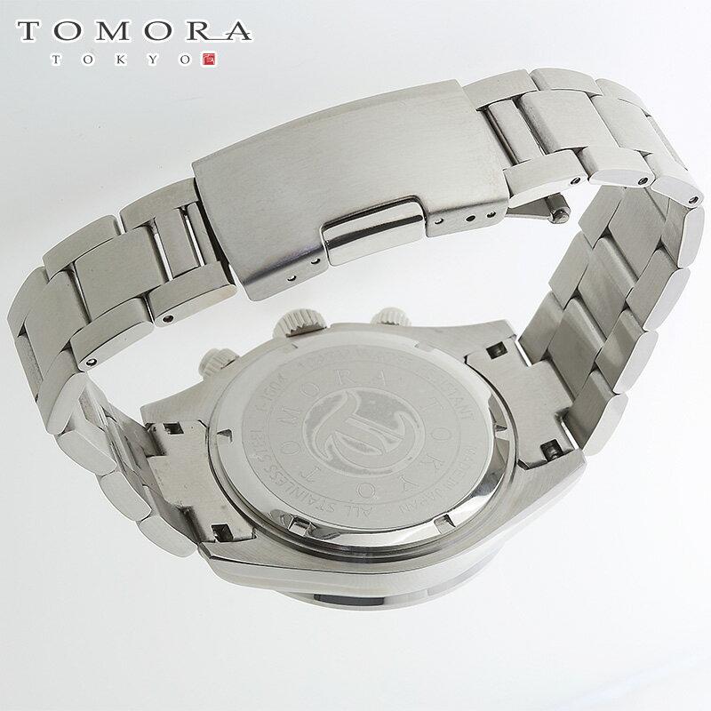 【a・新品・正規品】TOMORA TOKYO t-1604-sswh 日本製クォーツ クロノグラフ 腕時計 T-1604 SSWH