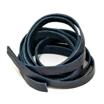 革紐 ウシ紐 日本製 ソフトレース牛革ひも 平紐 幅8.0mm 長さ150cm ネイビー 紺色 手芸用品 金具 飾り パーツ 部品 ネックレス レザーコード 皮紐 皮ひも
