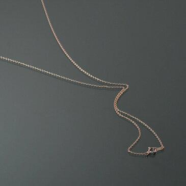 【10金ピンクゴールド】小豆チェーン・ネックレス(1.1mm/90cm)「鎖/K10PG/10k・貴金属ジュエリー」