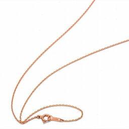 ネックレス チェーン 18金 ピンクゴールド 小豆チェーン 幅1.0mm 長さ55cm 鎖 K18PG 18k 貴金属 ジュエリー レディース メンズ