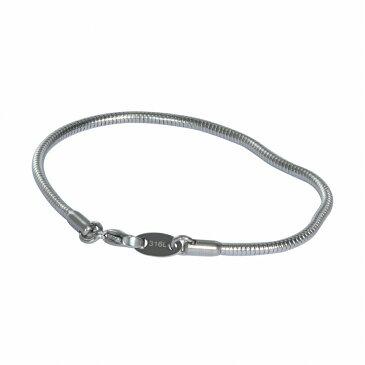 ブレスレット チェーン サージカルステンレス 316L スネークチェーン 幅2.4mm 長さ17cm|鎖 ステンレス アクセサリー レディース メンズ