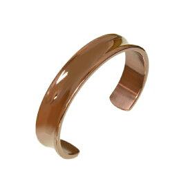 バングル サージカルステンレス 中央が窪んだデザインバングル 内周普通サイズ 銅 ブロンズ カフブレスレット 腕輪 医療用ステンレス アクセサリー レディース メンズ