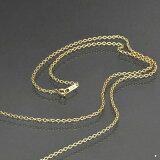 ネックレス チェーン サージカルステンレス 316L 金色 小豆チェーン 幅1.9mm 長さ70cm|鎖 ステンレス アクセサリー レディース メンズ