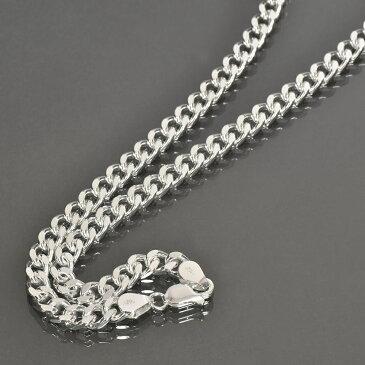 ネックレス チェーン シルバー925 2面カット喜平チェーン 幅6.1mm 長さ40cm 鎖 銀 Silver アクセサリー メンズ