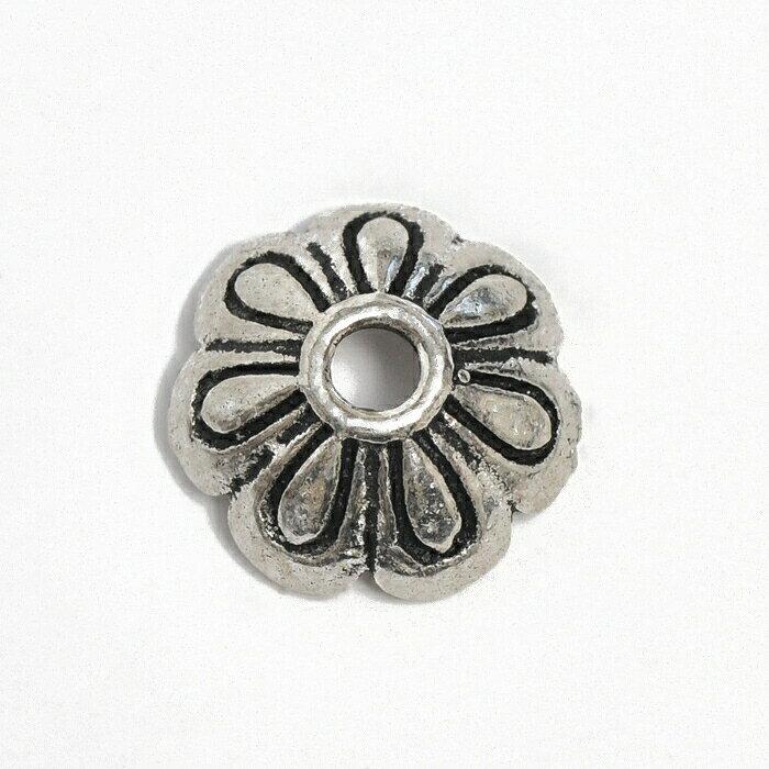 【1個売り】 ビーズキャップ シルバー925 花座 外径8.5mm 高さ3.0mm 座金|手芸用品 金具 飾り パーツ 部品 銀 Silver