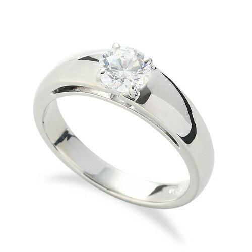 指輪 18金 ホワイトゴールド 天然石 一粒リング 主石の直径約5.2mm ソリティア 四本爪留め|K18WG 18k  貴金属 ジュエリー レディース メンズ