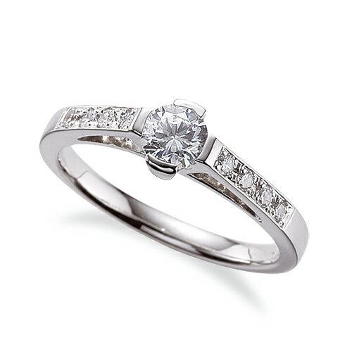 指輪 PT900 天然石 サイド一文字リング 主石の直径約4.4mm|プラチナ  貴金属 ジュエリー レディース メンズ