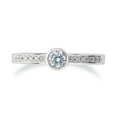 指輪 PT900 天然石 サイド一文字リング 主石の直径約3.8mm|プラチナ  貴金属 ジュエリー レディース メンズ