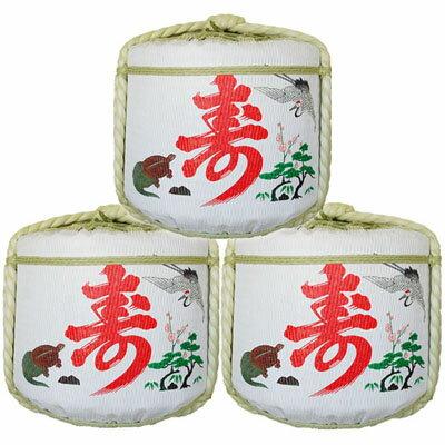 飾り樽二段重ね【鶴亀寿】(1斗樽)Japanese Decorative barrel