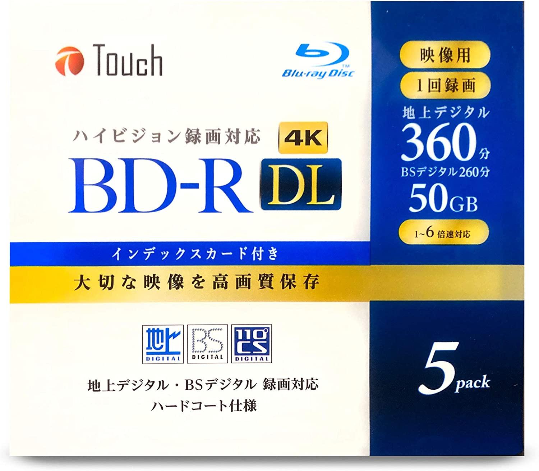 録画・録音用メディア, ブルーレイディスクメディア BD-R DL 50GB DL5 DL 2 1-6 1 BD-R50DL5 5 TouchE-)