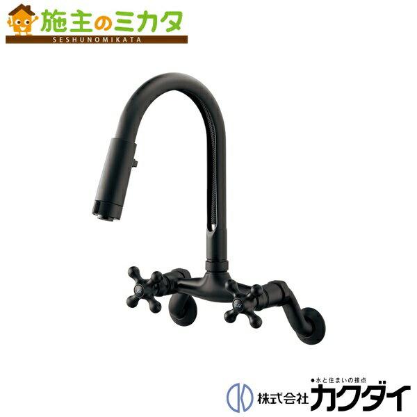 カクダイ 【124-108-D】 KAKUDAI 2ハンドル混合栓(シャワーつき)//マットブラック
