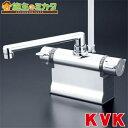 KVK 【KF3011T】 デッキ形サーモスタット式シャワー 190mmパイプ仕様 ★