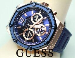 GUESS ゲス メンズ MOMENTUM PINKGOLD&BLUE 腕時計 GW0263G2 【正規品】【送料無料】