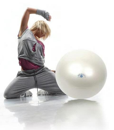 ギムニク フィットボール(Gymnic Fit Ball)バランスボール65cm、パールカラー、急に破裂しないノンバーストタイプ腹筋、背筋、体幹トレーニングにエクササイズ、ダイエットに椅子代わりに、リハビリに
