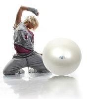 ギムニクフィットボール(GymnicFitBall)バランスボール55cm、65cmパールカラー、赤急に破裂しないノンバーストタイプ腹筋、背筋、体幹トレーニングにエクササイズ、ダイエットに椅子代わりに、リハビリに