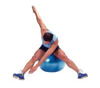ギムニクPLUS(ギムニクプラス)バランスボール55cm、レッド、赤急に破裂しないノンバーストタイプ腹筋、背筋、体幹トレーニングにエクササイズ、ダイエットに椅子代わりに、リハビリに