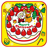 クリスマスタオルハンカチ クリスマスケーキ [キャンセル・変更・返品不可]