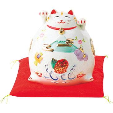 猫貯金箱(大)白 (018-0081) [キャンセル・変更・返品不可]