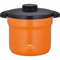 サーモス 真空保温調理器 シャトルシェフ(19.5cm・4.3L) オレンジ (KBJ-4500OR) [キャンセル・変更・返品不可]