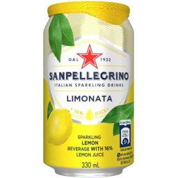 サンペレグリノ スパークリンクドリンク リモナータ(レモン) 缶 330ml 24個セット W1-32 [ラッピング不可][代引不可][同梱不可]