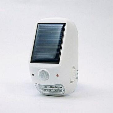 【YAZAWA(ヤザワ) 屋外用ソーラー式LEDセンサーライト NL57WH】[返品・交換・キャンセル不可]