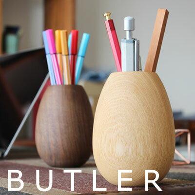 ハイタイド バトラー ペンポット A タモ (HX572)【HIGHTIDE Butler Pen Pot ペンスタンド 木製 無垢材 デザイン おしゃれ インテリア 雑貨】