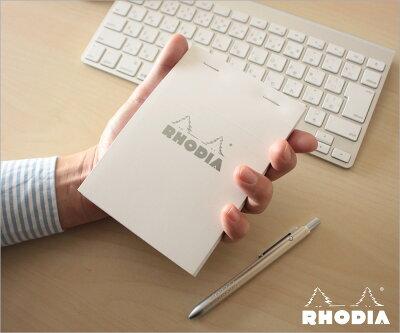 【ポイント10倍!!】ロディアRHODIA/ブロックロディアホワイトNo.13A6サイズ(ホワイト・5mm方眼)(cf13201)