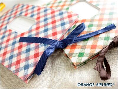 オレンジエアラインORANGEAIRLINES/プチブーケポケットアルバム(チェックレッド×ブルーCheckRedxBlue)L判40枚収納(AL-216)