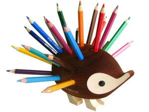 【送料無料!!】【ギフトにも最適!!】【東欧チェコで生まれたかわいいハリネズミ色鉛筆スタンド...