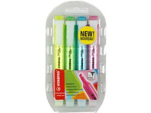 スタビロ/STABILO/スイングクール/蛍光ペン/マーカーペン/ハイライター/4色/セット/おしゃれ/デ...