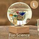 《CTS》333-210 【Fun Science】ガラスフロート温度計 ドームLガリレオ温度計 インテリア小物 ディスプレイ小物 サイエンス 科学 気温 浮き球 ガラス インテリア 333-210