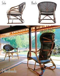 《ラタンワールド》Handmadeハンドメイド一人掛けチェア籐ラタン椅子腰掛けラタンチェア椅子パーソナルチェア西海岸風ナチュラルシンプルハンドメイドc124cb