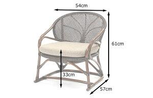 《ラタンワールド》Handmadeハンドメイド一人掛けチェアクッション付き籐ラタン椅子腰掛けラタンチェア椅子パーソナルチェア西海岸風ナチュラルシンプルハンドメイドc123kaz
