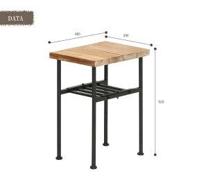 《ヤマソロ》JOKERサイドテーブルテーブル古材木製アンティークウッド収納シンプルおしゃれジョーカーjoker_82-625